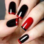 unha-francesinha-pret-vermelho